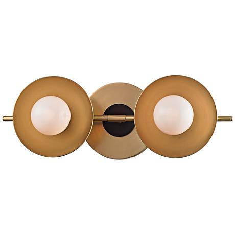 "Julien 4 3/4""H 2-Light Aged Brass LED Bath Light"