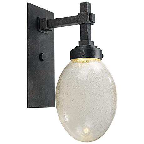 """Maxim Pike Place 16 1/2""""H Iron Ore LED Outdoor Wall Light"""