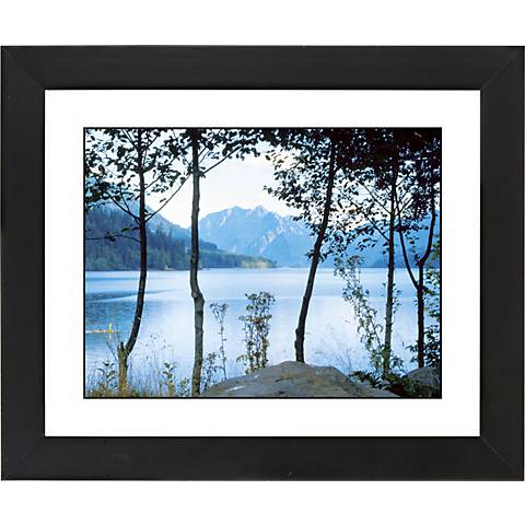 "Mountain Lake Black Frame Giclee 23 1/4"" Wide Wall Art"