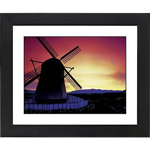 "Windmill Sunset Black Frame Giclee 23 1/4"" Wide Wall Art"