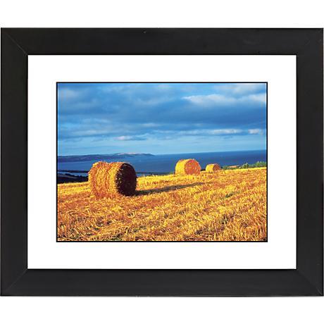 "Hay Bales Black Frame Giclee 23 1/4"" Wide Wall Art"