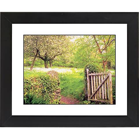"Garden Gate Black Frame Giclee 23 1/4"" Wide Wall Art"