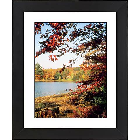 "Autumn At The Lake Black Frame Giclee 23 1/4"" High Wall Art"