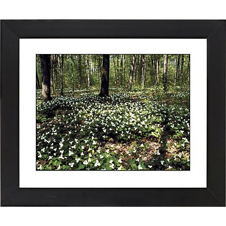 """Forest Flowers Black Frame Giclee 23 1/4"""" Wide Wall Art"""
