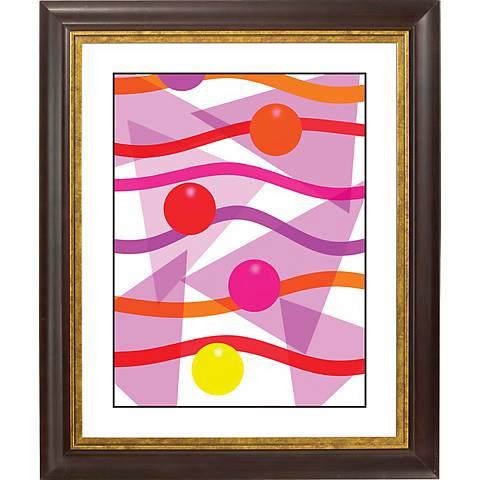 """Pink Gold Bronze Frame Giclee 20"""" High Wall Art"""