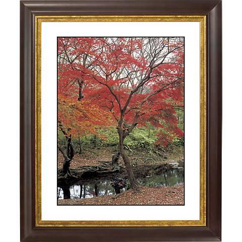 """Red Autumn Gold Bronze Frame Giclee 20"""" High Wall Art"""