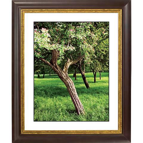 "Orchard Meadow Gold Bronze Frame Giclee 20"" High Wall Art"