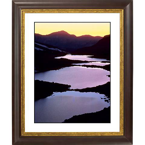 "Mountain Lakes Gold Bronze Frame Giclee 20"" High Wall Art"