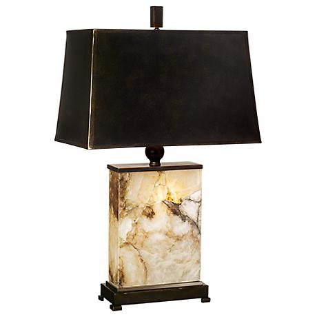 Marius Marble Night Light Table Lamp - #F1441 | Lamps Plus