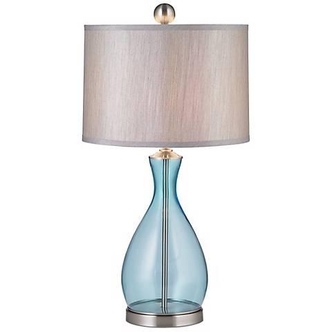 Uttermost Reena Blue Glass Table Lamp