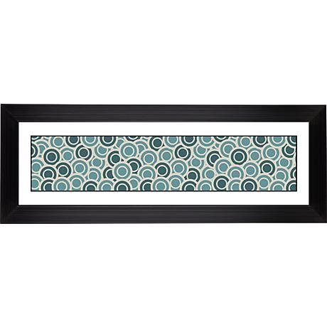 "Blue/Green Circlets Stepped Strip 52 1/8"" Wide Wall Art"