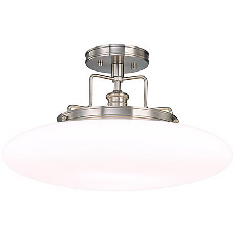"""Beacon Polished Nickel Finish 18"""" Wide Ceiling Light"""