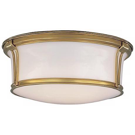 """Newport 15"""" Wide Aged Brass Ceiling Light"""
