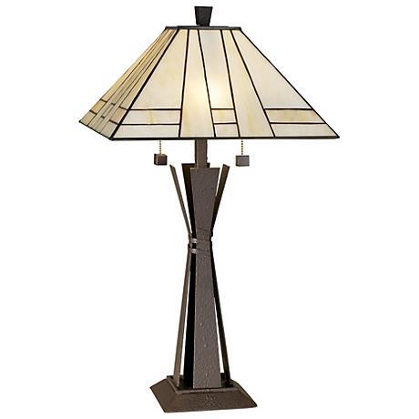 kathy ireland citycraft mission table lamp f3565. Black Bedroom Furniture Sets. Home Design Ideas