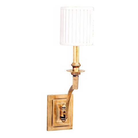 "Mercer Single Light 19"" High Aged Brass Wall Sconce"