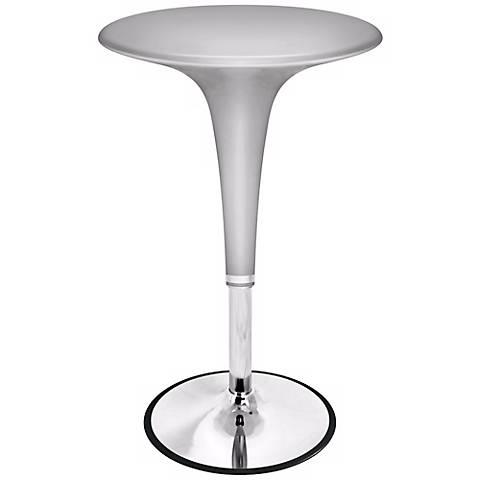 Metallic Silver Adjustable Gelato Bar Table