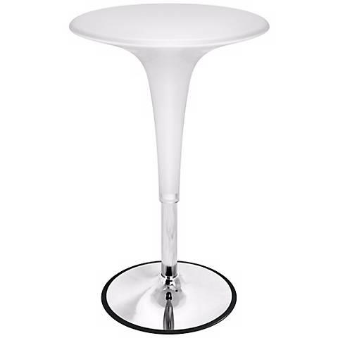 White Adjustable Gelato Bar Table