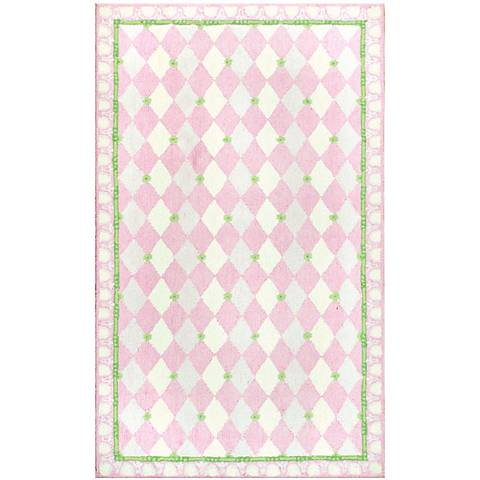 Diamonds Forever Pink Area Rug