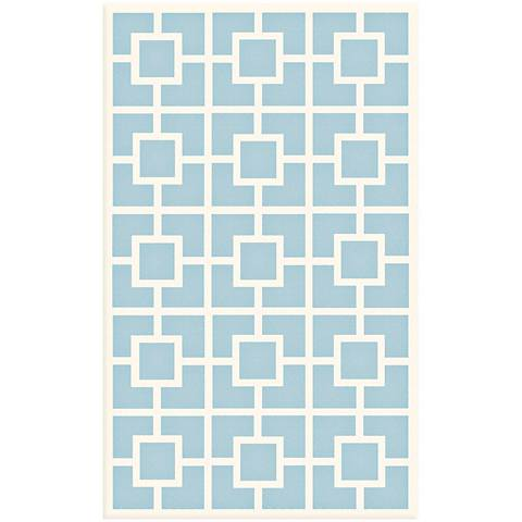 Block Party Blue Area Rug