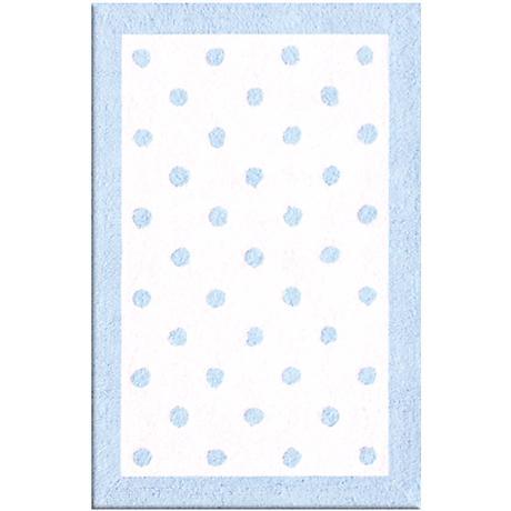 Polka Spots Light Blue Area Rug