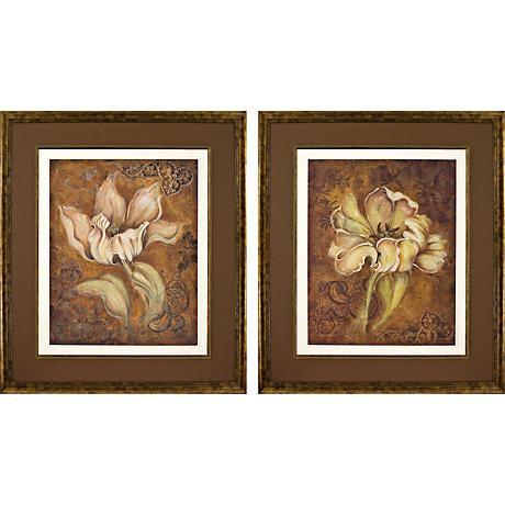 Set of 2 Study in Ecru Wall Art Prints