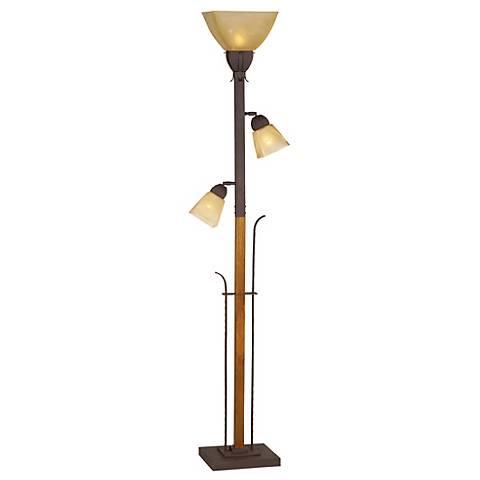 aspen grove torchiere floor lamp f6017 lamps plus. Black Bedroom Furniture Sets. Home Design Ideas