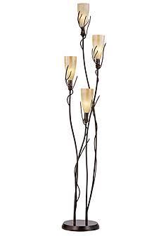El Dorado 4 Light Torchiere Floor Lamp