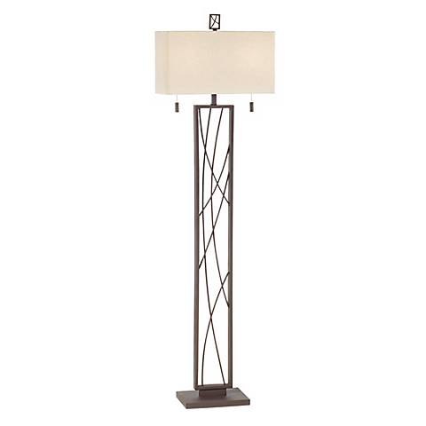 Crossroads Dark Rust Contemporary Floor Lamp