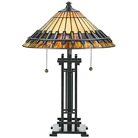 Quoizel Chastain Tiffany-Style Table Lamp