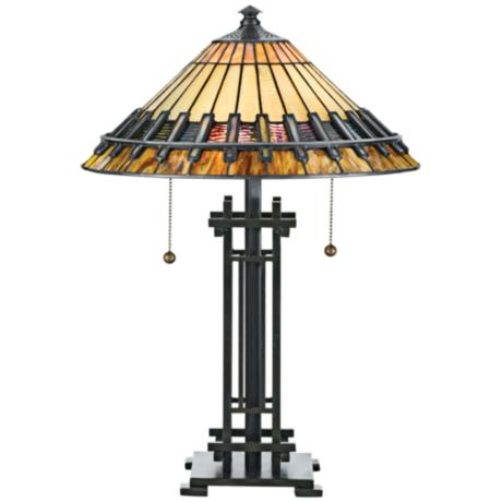 Quoizel Chastain Tiffany Style Table Lamp F6420 Lamps