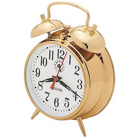 Bulova Bellman Brass Alarm Clock
