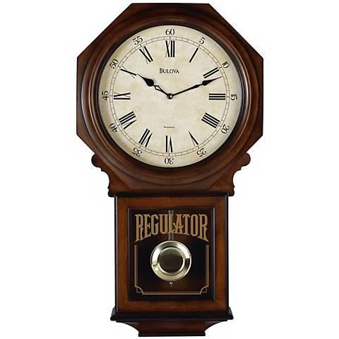 "Bulova Westminster Melody 25"" High Wall Clock"