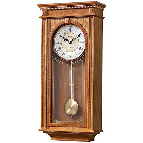 bulova manorcourt 24 1 4 high wall chime clock f6823