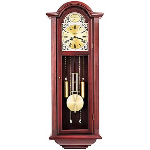 """Bulova Mahogany Tatianna 40"""" High Wall Clock"""