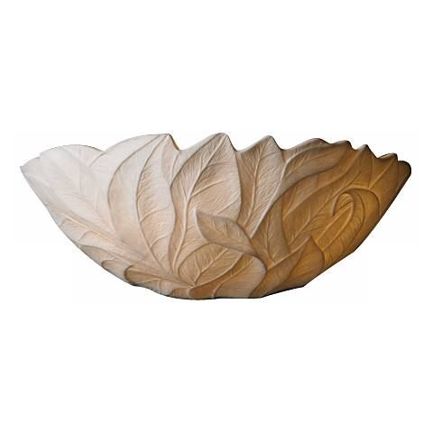 """Limoges Collection Leaves 12 3/4"""" Wide Pocket Wall Sconce"""