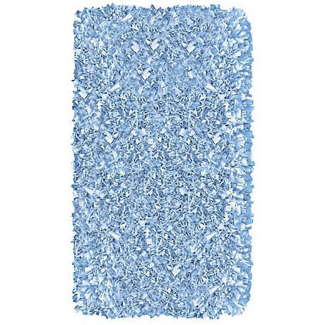 Raganoodle Light Blue Shag Area Rug