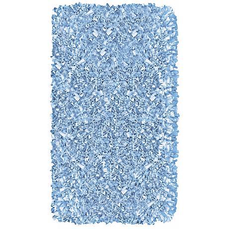 Raganoodle Light Blue Shag Area Rug