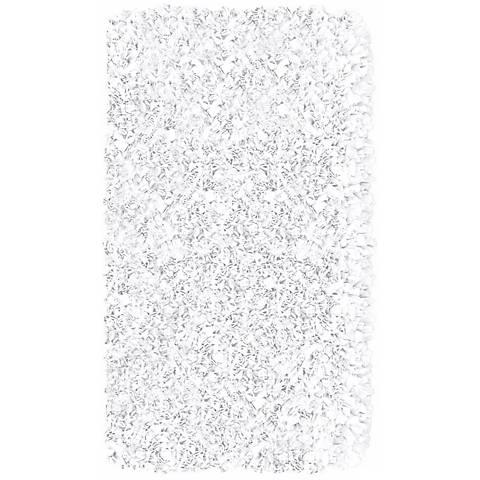 Raganoodle White Shag Area Rug