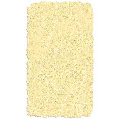 Raganoodle Yellow Shag Area Rug