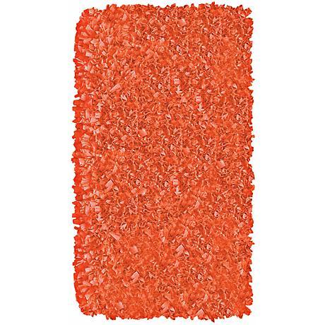 Raganoodle Tangerine Shag Area Rug
