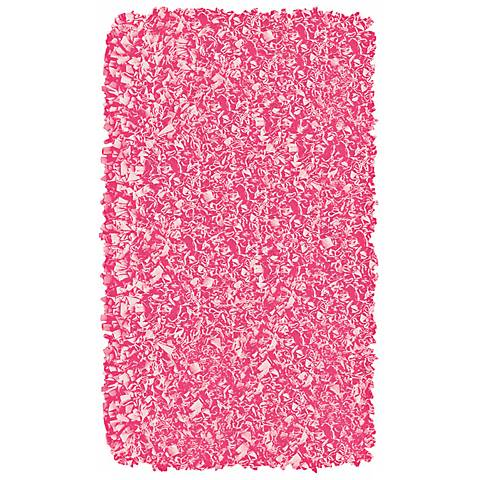 Raganoodle Bubble Gum Shag Area Rug