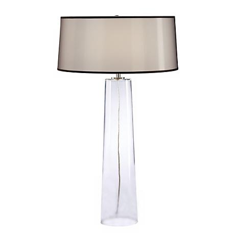 Robert Abbey Odelia Clear Glass Black Shade Table Lamp
