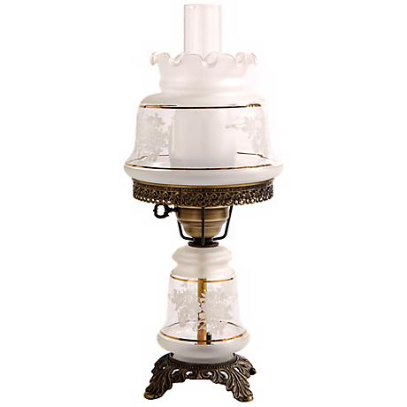 white and gold night light hurricane table lamp f7952 lamps plus. Black Bedroom Furniture Sets. Home Design Ideas