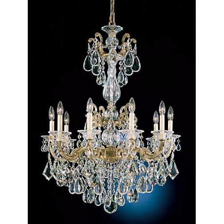 "Schonbek La Scala 28"" Wide Crystal Chandelier"