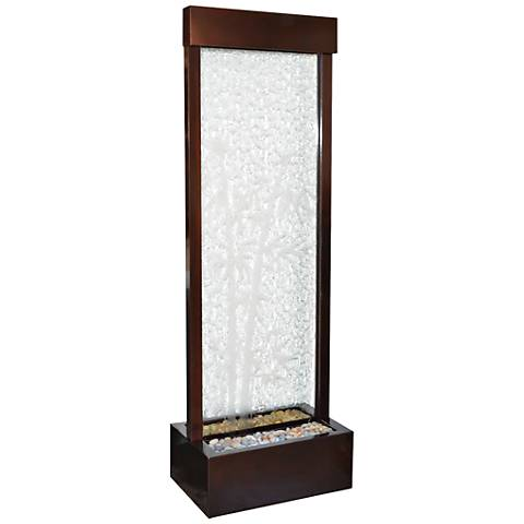 """Gardenfall 72""""H LED Bamboo Glass Indoor/Outdoor Fountain"""
