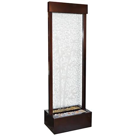 "Gardenfall 72"" LED Bamboo Glass Indoor/Outdoor Fountain"