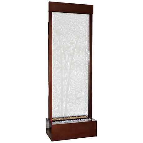 "Gardenfall 90"" LED Bamboo Glass Indoor/Outdoor Fountain"