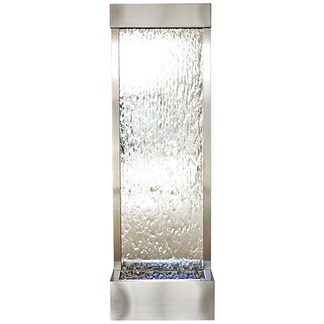 "Gardenfall LED 72"" Silver Glass Indoor/Outdoor Fountain"