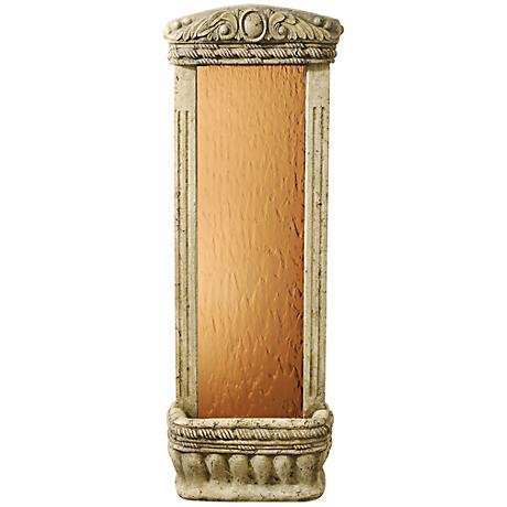 "Bronze Mirror 48"" High Watergarden Wall Mounted Fountain"