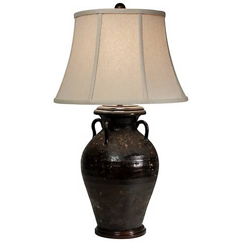 Olivaris Brown Tuscan Table Lamp by The Natural Light